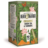 Heath & Heather Organic Green Tea & Turmeric - 20 Bags