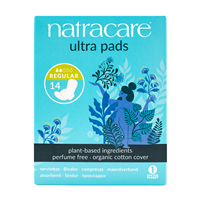 Natracare Ultra Pads With Wings - Regular - 14 Pack