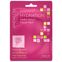 Andalou 1000 Roses Instant Hydration Facial Sheet Mask - 1 Mask