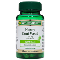 Nature`s Bounty Horny Goat Weed - 60 x 250mg Capsules