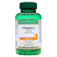 Nature`s Bounty Vitamin C 1000mg with Rose Hips - 60 Coated Caplets