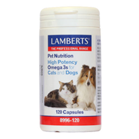 LAMBERTS Omega 3s for Cats and Dogs - 120 Capsules