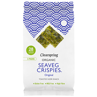 Clearspring Organic Seaveg Crispies - Original - 3 Pack