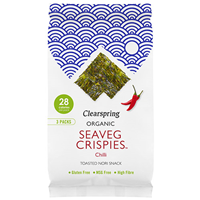 Clearspring Organic Seaveg Crispies - Chilli - 3 Pack - Best before date is 30th April 2019