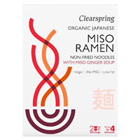 Clearspring Organic Miso Ramen Noodles with Miso Ginger Soup - 210g
