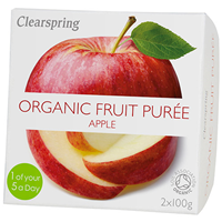 Clearspring Organic Fruit Purée - Apple - 2 x 100g
