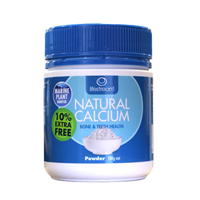 Lifestream Organic Natural Calcium - 110g Powder - Extra 10% FREE