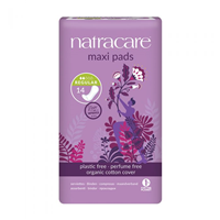 Natracare Organic Natural Maxi Pads - Regular - 14 Pack