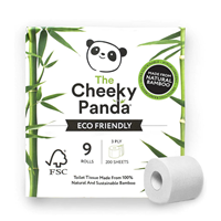 The Cheeky Panda Toilet Tissue - 9 Rolls