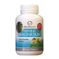 Lifestream Natural Magnesium - 132 x 350mg Vegicaps - Extra 10% FREE