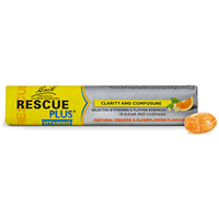 Bach RESCUE PLUS - Orange & Elderflower - 10 Lozenges