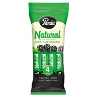 Panda Mint Filled Liquorice Bars - 4 x 26g