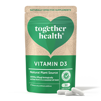 Together Vegan Vitamin D3 - Bioactive Plant Source - 30 Vegicaps