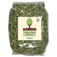 Tree of Life Organic Green Split Peas - 500g