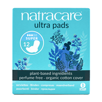 Natracare Ultra Pads - Super Plus - 12 Pack