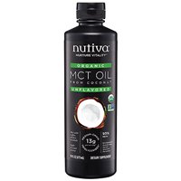 Nutiva Organic MCT Oil 93% - Unflavoured - 473ml