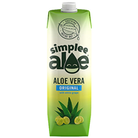 Simplee Aloe Original Aloe Vera with White Grape - 1 Litre