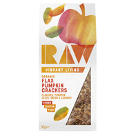 Raw Health Organic Flax Pumpkin Crackers - 90g