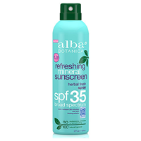 Alba Botanica Refreshing Mineral Sunscreen Spray SPF 35 - 177ml