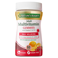 Nature`s Bounty Adult Multivitamin with Vitamins C & D3 - 60 Gummies