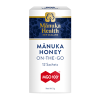 Manuka Health MGO 100+ Manuka Honey Snap Pack - 12 Sachets