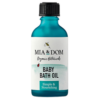 Mia & Dom Baby Bath Oil - Unfragranced - 50ml