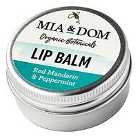 Mia & Dom Red Mandarin & Peppermint Lip Balm - 15ml