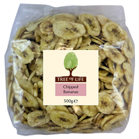 Tree of Life Dried & Sweetened Banana Chips - 500g