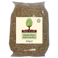 Tree of Life Organic Short Grain Brown Rice - 500g