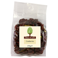 Tree of Life Dried & Sweetened Cranberries - 250g