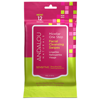 Andalou Sensitive Micellar Facial Cleansing Swipes - 12 Swipes