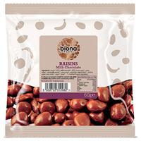 Biona Organic Milk Chocolate Covered Raisins - 60g