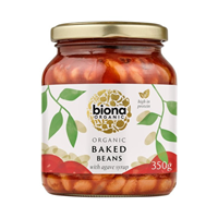 Biona Organic Baked Beans in Tomato Sauce - 340g