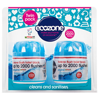 Ecozone Forever Flush Toilet Block (2000 Flushes) - 2 Pack