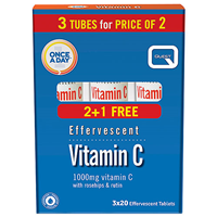 Quest Effervescent Vitamin C - Orange Flavour - 60 Tablets