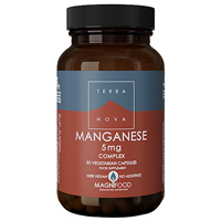 TERRANOVA Manganese 5mg Complex - 50 Vegicaps - Best before date is 31st August 2020