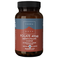 TERRANOVA Folate (Methylfolate) 400mcg Complex - 50 Vegicaps