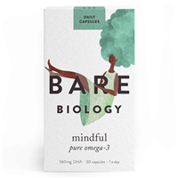 Bare Biology Mindful Pure Omega 3 Fish Oil - 30 Capsules