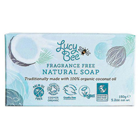 Lucy Bee Organic Fragrance-Free Natural Bar Soap - 150g