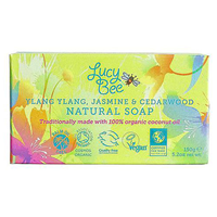 Lucy Bee Organic Ylang Ylang, Jasmine & Cedarwood Natural Bar Soap - 150g