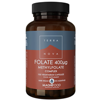 TERRANOVA Folate (Methylfolate) 400mcg Complex - 100 Vegicaps