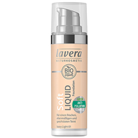 lavera Soft Liquid Foundation - Ivory Light 01 - 30ml