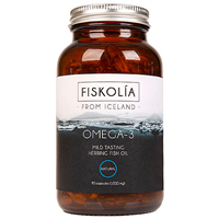 FISKOLIA Omega 3 Herring Fish Oil - 90 x 1000mg Capsules