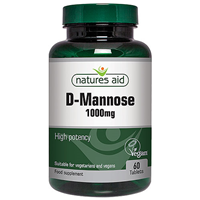 Natures Aid D-Mannose - 60 x 1000mg Tablets