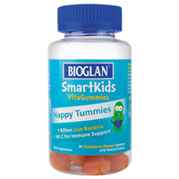 Bioglan SmartKids Happy Tummies - 30 Strawberry Gummies