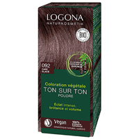 LOGONA Herbal Hair Colour Powder - 092 Reddish Brown - 100g