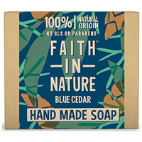 Faith in Nature Blue Cedar Bar Soap For Men - 100g