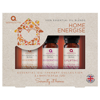 Aroma Home Essential Oil Collection - Home Energise - 3 x 9ml
