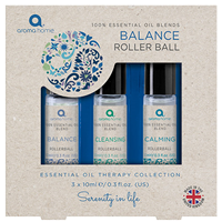 Aroma Home Essential Oil Collection - Balance Roller Ball - 3 x 10ml