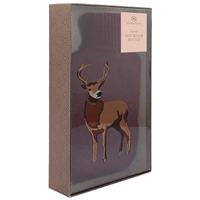 Aroma Home Burgundy Highland Stag Hot Water Bottle